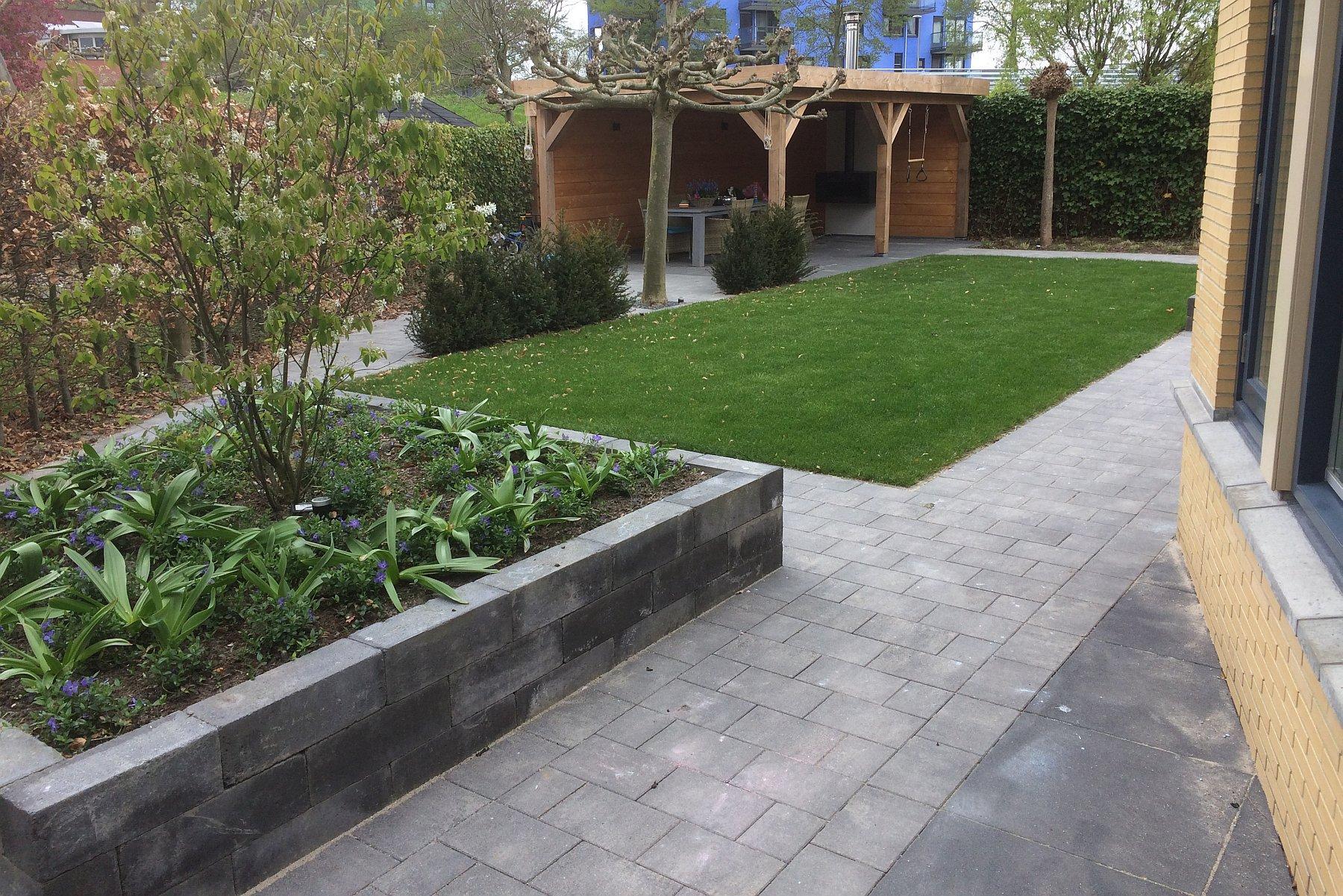 Open Haard Tuin : Tuin met verhoogde bakken aanleggen in zoetermeer